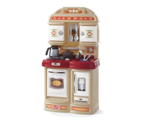 Toddler-Chef-Kitchen-Tan-Set-StoveTop-Oven-Fridge-Step2-Kid-Compact-Pretend-Cook