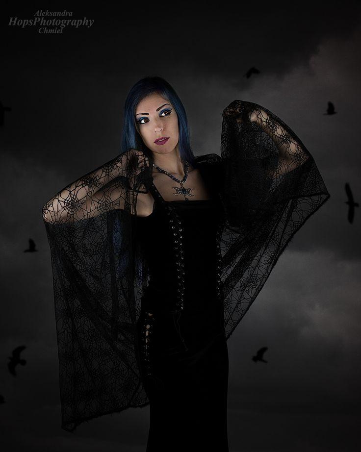 #persephonemodel, #gothic, #gothicandamazing, #gothicbeauty, #bluehair, #blackveil, #spiderweb, #goth #gothic #gothicjewelry #gothicjewellery #gothicstyle #gothfashion #gothicfashion #gothgoth #altfashion #altgirl #altmodel #gothgirl #gothmodel #gothicmakeup #wiccan Model: Persephone - Model; Photography: Hops Photography