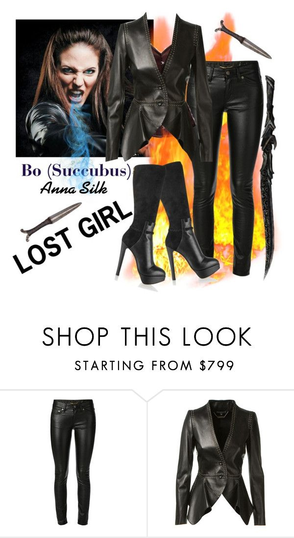 """""""Lost Girl Bo"""" by vegasprincess-1 ❤ liked on Polyvore featuring Yves Saint Laurent, Alexander McQueen, Charlotte Olympia, lostgirl, succubus and BoDennis"""