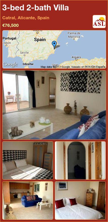 3-bed 2-bath Villa in Catral, Alicante, Spain ►€76,500 #PropertyForSaleInSpain