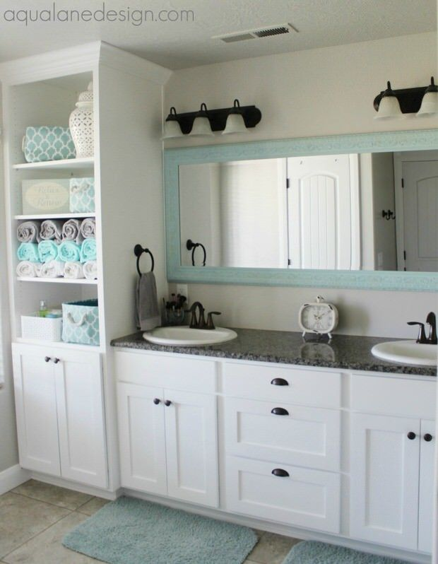 floor-to-ceiling cabinet/shelves: next project for master bath