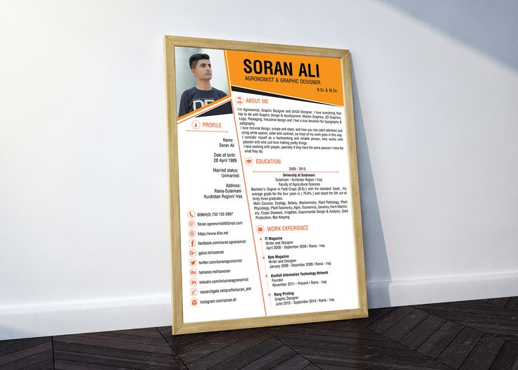 My resume template