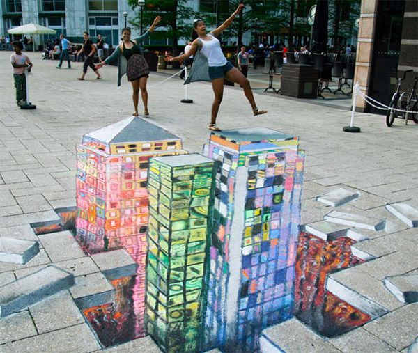3d floor art from the virtual floors exhibit mason and for Floor 3d painting