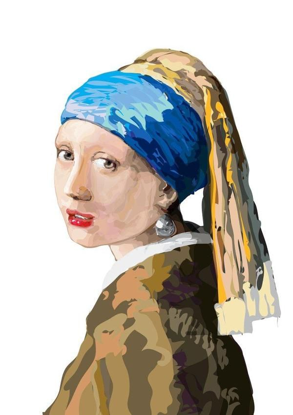 Girl With a Pearl Earring: Study One by Tulio Fagim