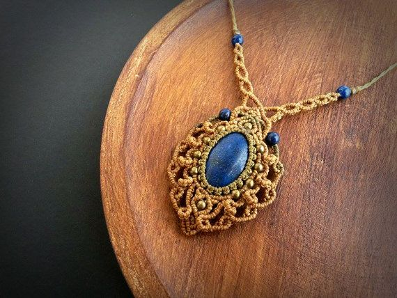 Hey, I found this really awesome Etsy listing at https://www.etsy.com/pt/listing/262711132/macrame-necklace-with-lapis-lazuli