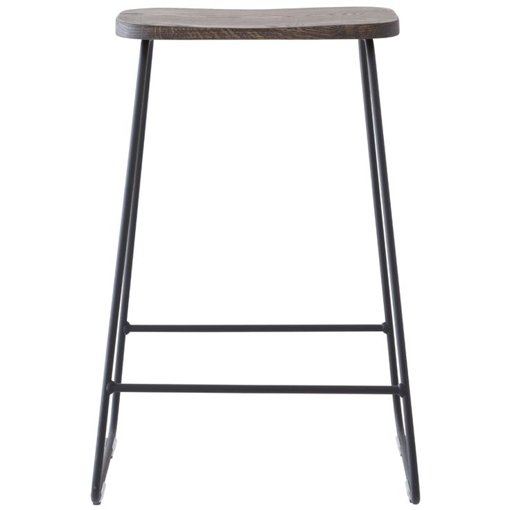 Industrial Stool with Ebony Seat