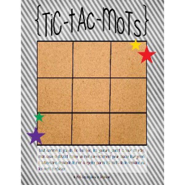 Tic-Tac-Mots (Étude de mots)