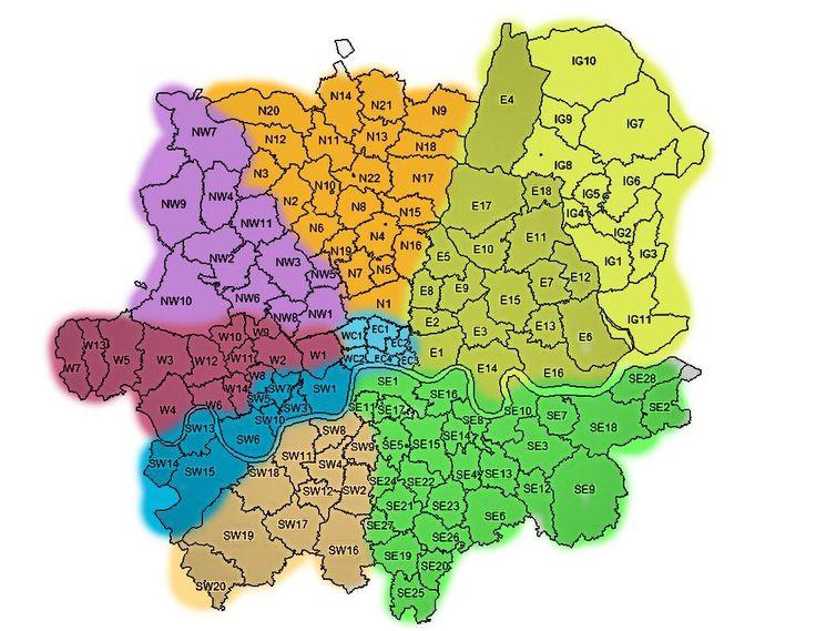 postcode map of london The Big Smoke Pinterest Maps