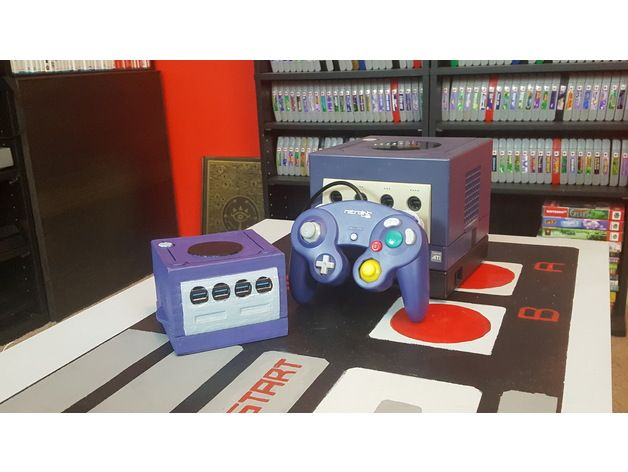This is my GameCube-style case for the UP Squared board from