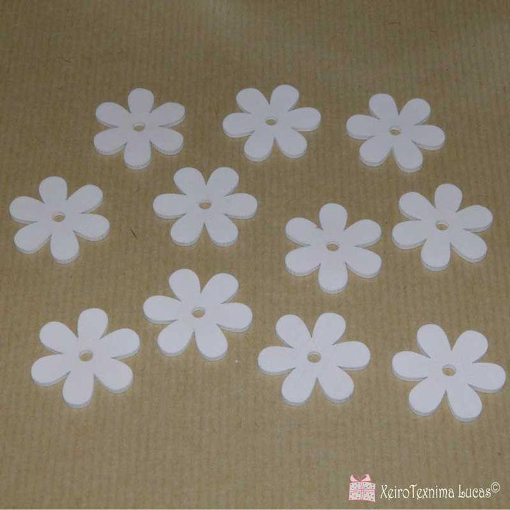 Ξύλινα λουλούδια