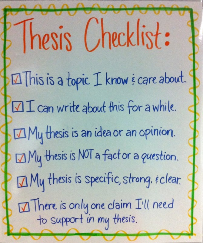 writing a strong thesis statement middle school This post dissects the components of a good thesis statement and gives 10 thesis topic in your thesis statement don't write thesis statements for.