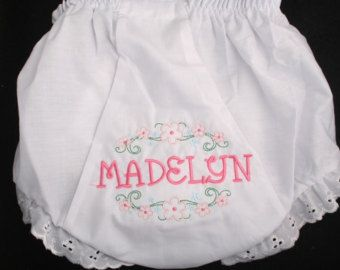 Personalized Monogrammed Diaper Cover Bloomer by MilesofDesigns