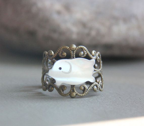 Pig Ring by youyou965 on Etsy, $7.00