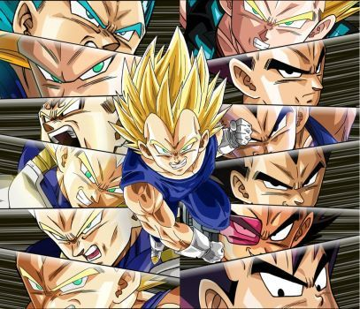 All current forms of Vegeta the sayian prince