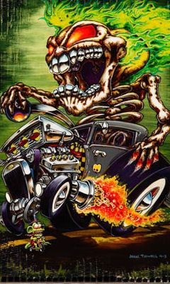 hot rods and girls | Free Ed Hardy Tattoo Hot Rod phone wallpaper by dejasoul