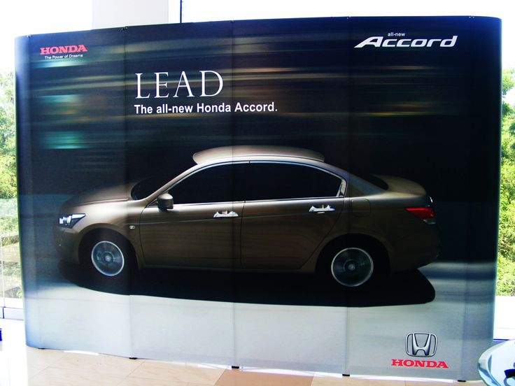 Portable Brand Activation Backdrop for Honda. Portable Systems are considered to be most value for money as they are fully customizable and can be re-configured/re-used. Know more about our Portable Products at http://www.insta-group.com/portable-modular-exhibition-stall-design-company-india.asp