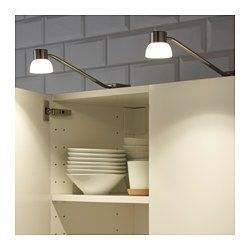 IKEA - LINDSHULT, LED cabinet light, , Provides a focused light that is good for lighting smaller areas.The LED light source consumes up to 85% less energy and lasts 20 times longer than incandescent bulbs.