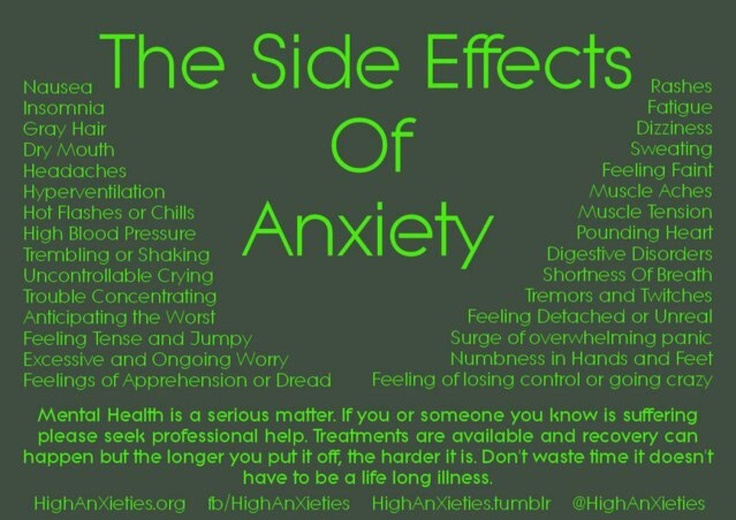 Side Effects of Anxiety  https://sphotos-b.xx.fbcdn.net/hphotos-ash4/474604_386917031424444_1597820592_o.jpg