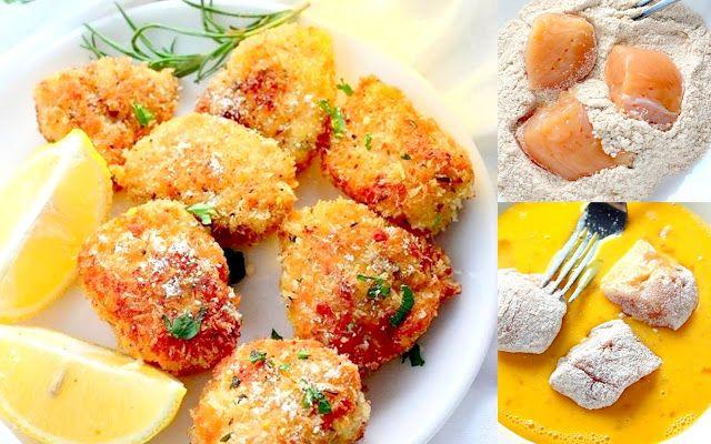 Κοτόπουλο μπουκιές παναρισμένες στο φούρνο !! ~ ΜΑΓΕΙΡΙΚΗ ΚΑΙ ΣΥΝΤΑΓΕΣ