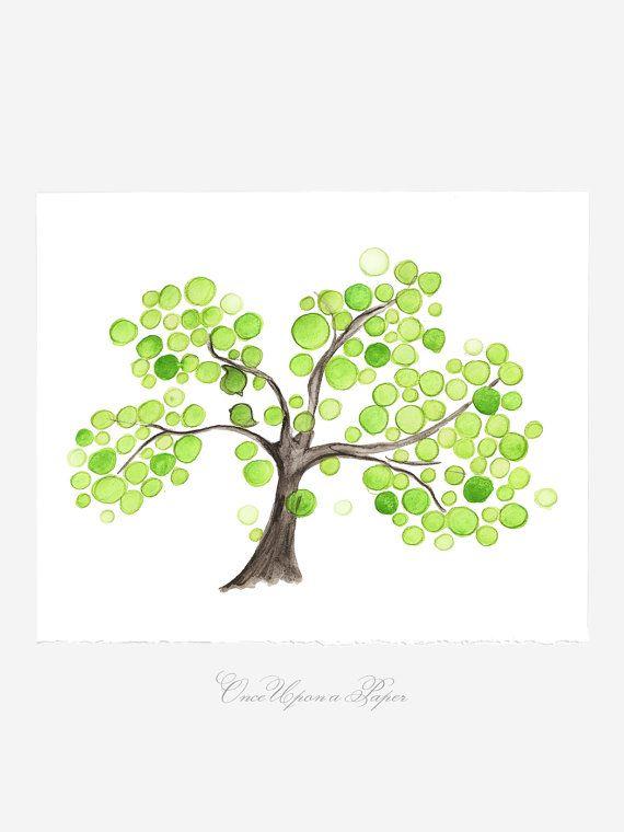 Düğün Hediyelik Yıldönümü Hediyesi - Kardeşlik Ağacı - Suluboya Resim Yaşam Collection Ağaçları ve Giclee Sanatsal Reprodüksiyon Üreme