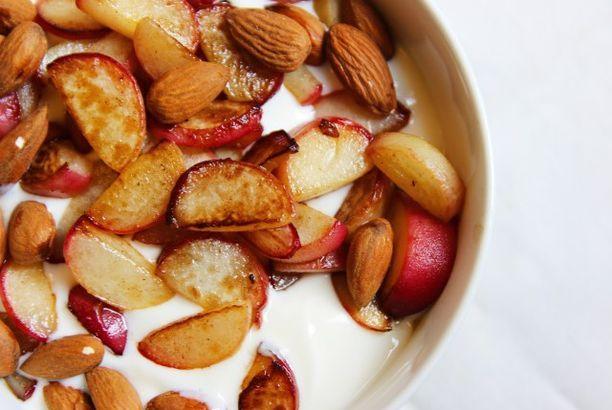 Gebakken perziken met kwark (Healthyfans)