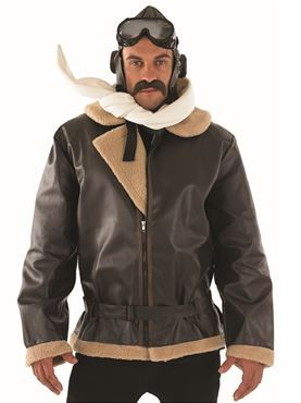 Adult Biggles WW2 Wartime Fighter Pilot Costume by Fancy Dress Ball