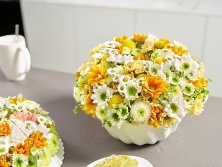 Chrysanthemen-Flower-Cake Die besondere Geschenkidee zum Muttertag