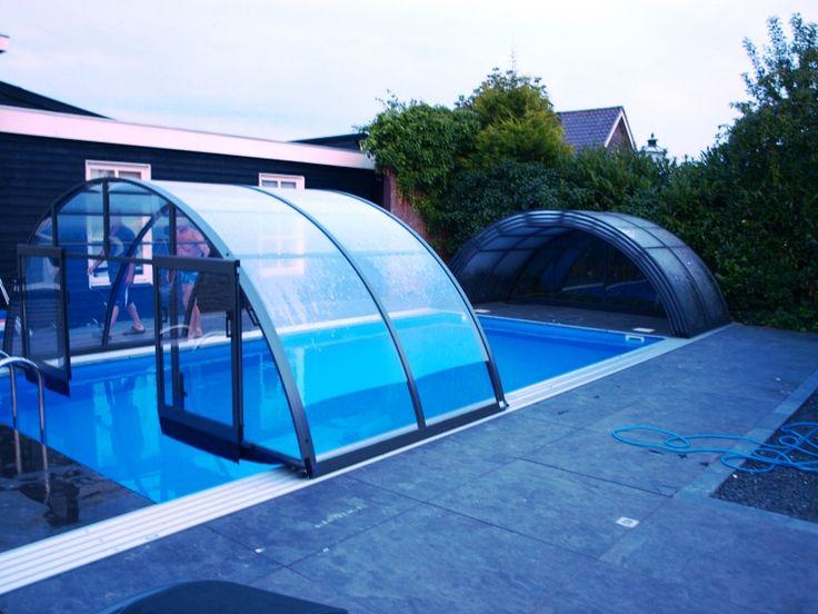 25 beste idee n over zwembad huizen op pinterest achtertuinhuisje overdekte terrassen en - Smeedijzeren pergola voor terras ...