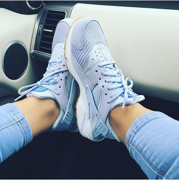 shoes huarache baby blue nike sneakers