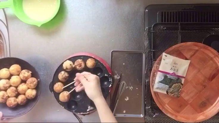 ⊿8【銀だこ風 たこ焼き】 外はカリカリの揚げダコ たこ焼きの作り方 - YouTube