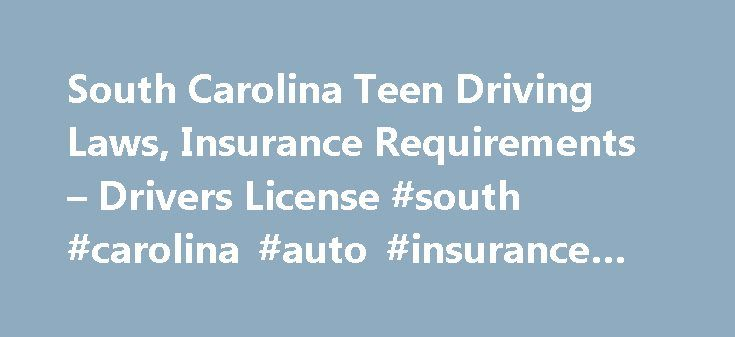South Carolina Teen Driving Laws, Insurance Requirements – Drivers License #south #carolina #auto #insurance #requirements http://dating.nef2.com/south-carolina-teen-driving-laws-insurance-requirements-drivers-license-south-carolina-auto-insurance-requirements/  South Carolina Teen Driving Laws, Insurance Requirements Drivers License The South Carolina Beginner Permit Class D (Regular) In order to qualify for a South Carolina Beginner Permit, the applicant must be a minimum of 15 years old…