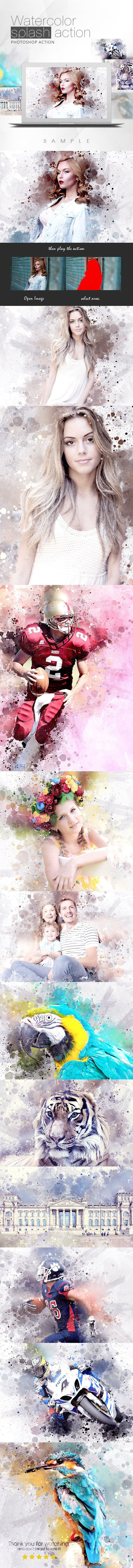 How to turn your photos into watercolor art - Watercolor Splash Action - Photo Effects Actions