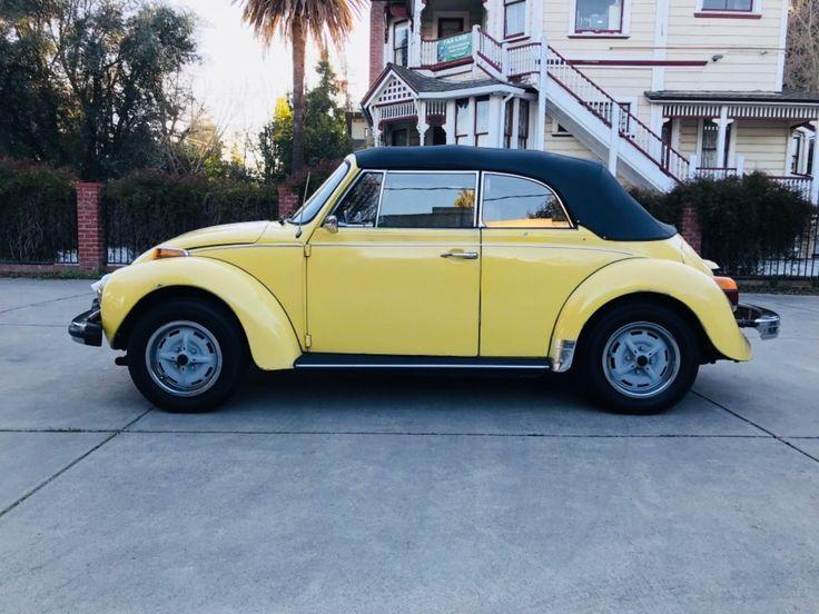eBay: 1979 Volkswagen Beetle - Classic Convertible 1979 Volkswagen Convertible, Rust free California Car, Lemon Yellow #classiccars #cars