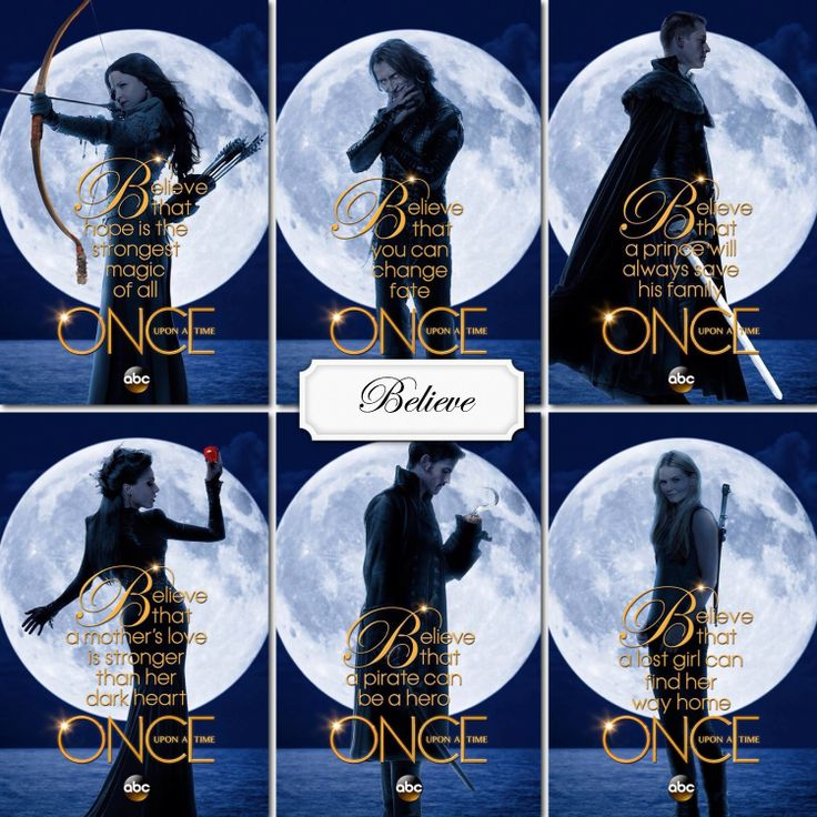 OUAT love the believe theme with the characters from Once Upon aTime