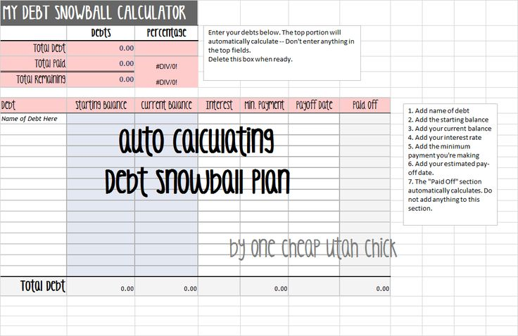 how to create a debt snowball plan    snowball excel