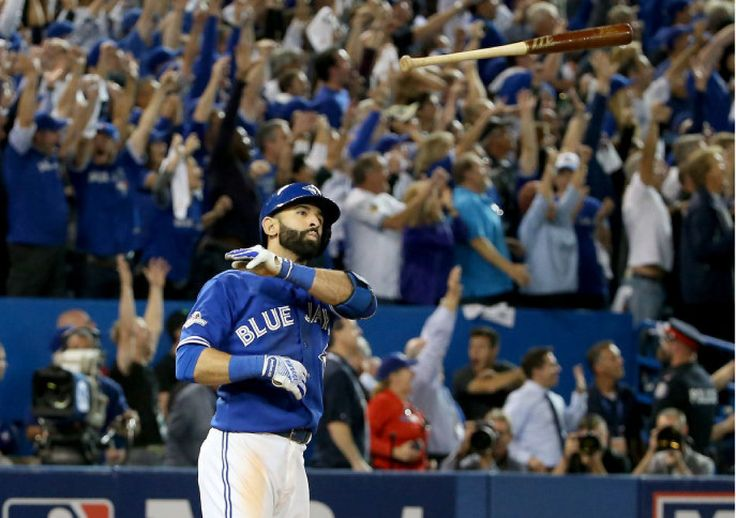 Jose Bautista Bat Flip - Toronto Blue Jays 2015 #MLB #BlueJays #Toronto