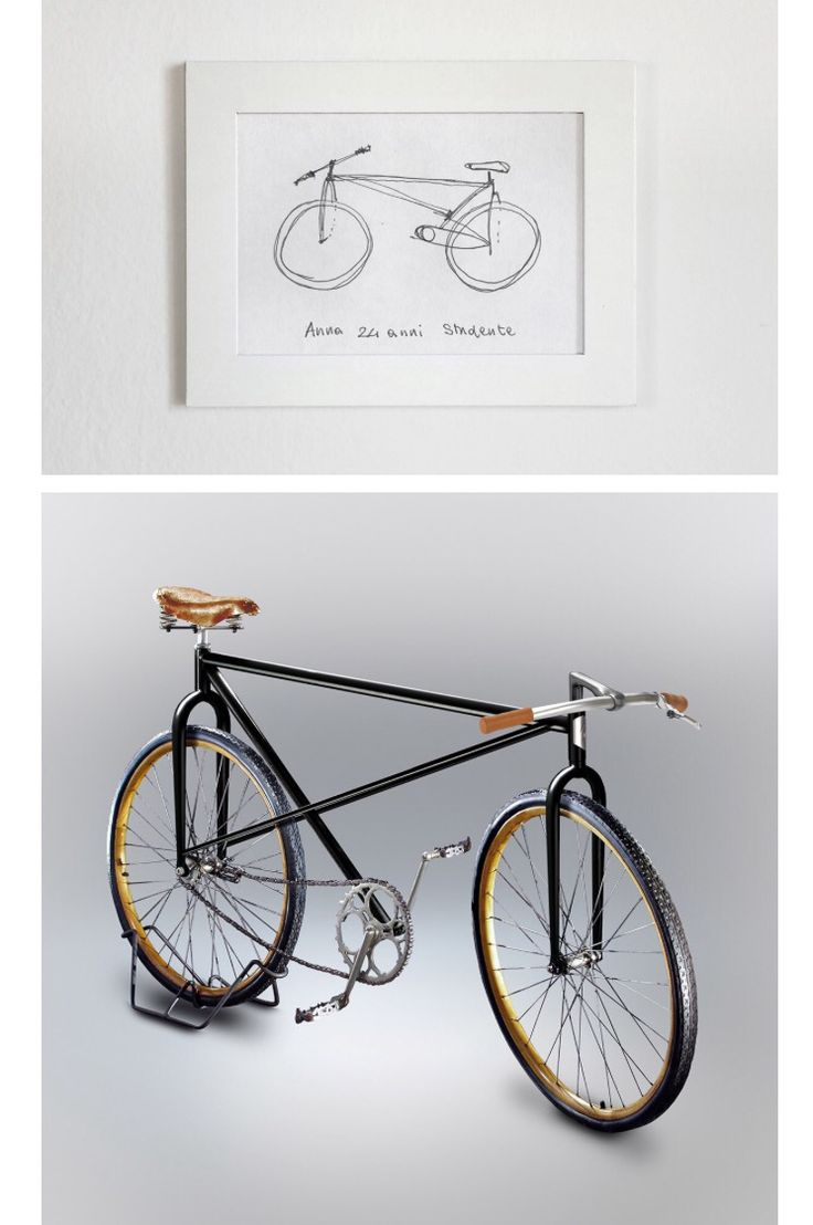 In 2009 designer Gianluca Gimini started asking friends and strangers to draw a men's bicycle from memory. While some got it right, most made technical errors — missing fundaments parts of the frame or chain.