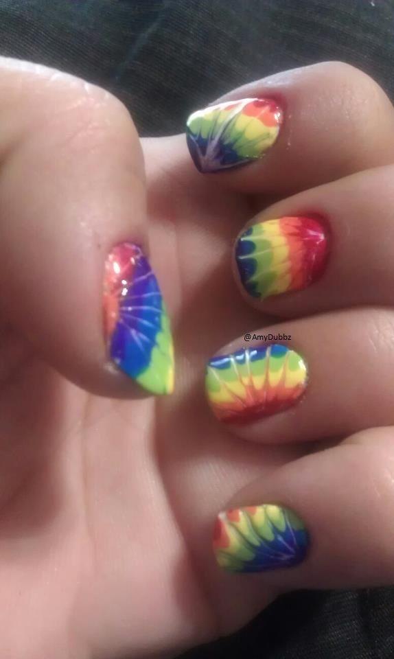 #Sephora #nailspotting: Ties Dyes Nails, Nails Design, Sequences, Sephora Nailspot, Nails Ideas, Tye Dyes, Nails Art Design, Rainbows Nails, Diy Nails