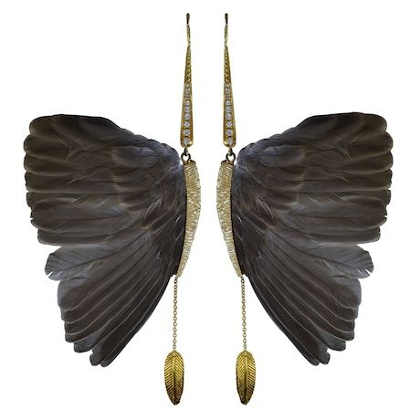 Daniela Villegas Wing EarringsVillegas Wings, Amazing Earrings, Fashion, Birds Wings, Daniela Wings, Daniela Villegas, Butterfly Wings, Accessories, Wings Earrings