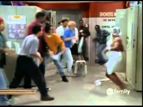 Steve Urkel Towel Fight Scene LMBO!!!!!!!!!!