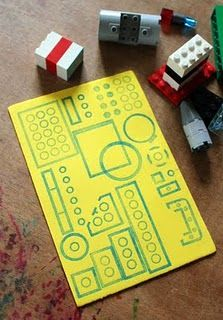 stamping with legos.