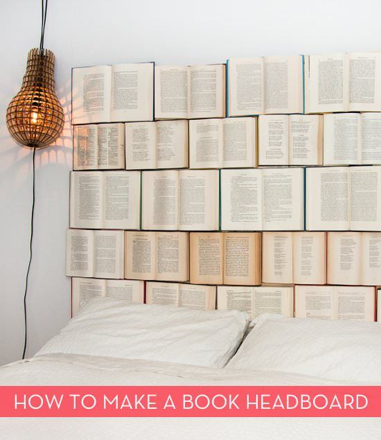 #Bed, #Books, #Headboard  DIY book headboard