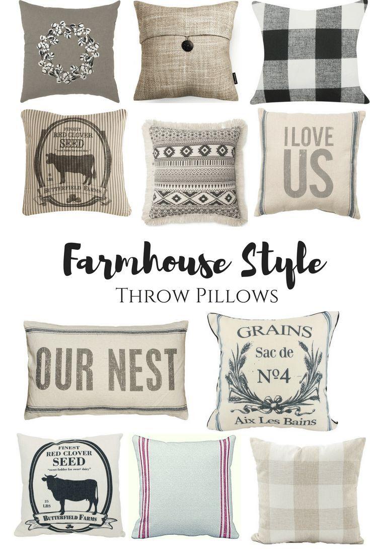 Farmhouse Style Throw Pillows Farmhouse Living Room Rustic