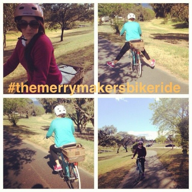 The merrymaker sisters This morning we rode to work + played the 'good morning' game (where we say good morning to everyone we pass!) You can change a person's day just by saying 'hello!' Plus- it's fun!   #themerrymakersbikeride #cellbikes #rideforless #vintagebikes #cixte #getfit and #savetheworld @Cell Bee Bikes Australia