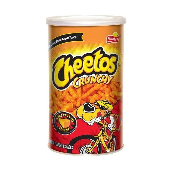 Cheetos Crunchy Cheese Flavored Snacks, 4.5 oz ($3) ❤ liked on Polyvore featuring food, food and drink and snacks