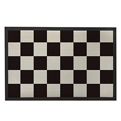 Black and White Doormat Entrance Door Mat Indoor Checkerboard Pattern Doormats Geometric Decor Bath Mat Modern Family Welcome Doormat for Home Bathroom Outdoor Rug 23.6x15.7 Inch