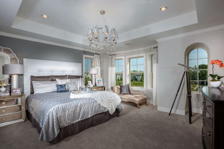 Chandelier Type Lamp In The Master Bedroom At Crown Community Gaithersburg MD