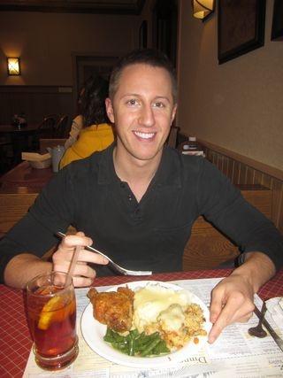 Blogger Michael Evans at Dutch Valley Restaurant & Bakery in Sugarcreek