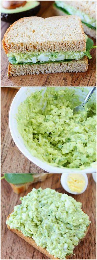 Avocado Egg Salad | Foodiboum