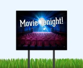 Get your movie night bandit signs from The Sprout Shop. #movienight #residentevents #eventideas